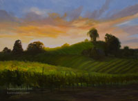 a Taste of Sonoma Oil Painting