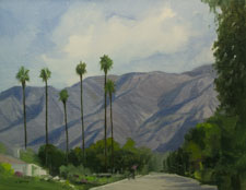 Arcadia San Gabriel Mountains painting commission