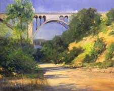 Arroyo Hike Colorado Street Bridge Arroyo Seco oil painting California impressionist Pasadena art