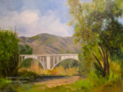 Arroyo Impression Colorado Street Bridge oil painting