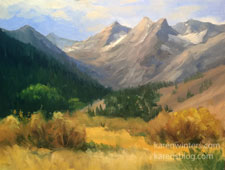 Before the First Snow Sierra Landscape oil painting