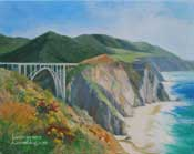 Big Sur Bixby Bridge oil painting