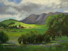 Ohio Pass Colorado Crested Butte oil painting