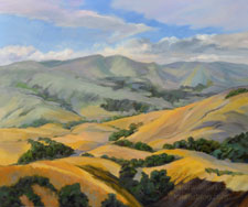 California Golden Hills with Oaks Rolling Oil Painting