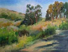 Pacific Palisades plein air original oil painting