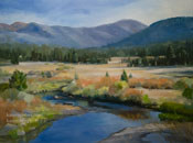 Carson River Crossing Hope Valley Tahoe Markleeville oil painting art for sale