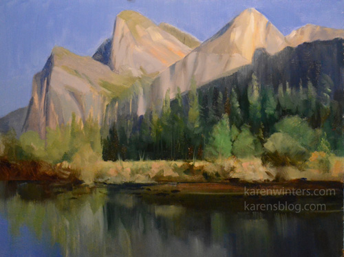 Cathedral Rocks Yosemite Oil Painting landscape art