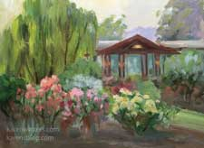 Descanso Rose Garden Dusk landscape oil painting