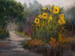Descanso Gardens Sunflowers oil painting