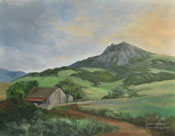 Farm at Bishop Peak San Luis Obispo Oil Painting