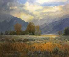 Eastern Sierra near Bishop Owens Valley oil painting Round Valley
