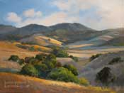 Hills of Gold - California Impressionist Landscape Oil Painting by Karen Winters