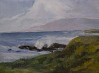 Moonstone Mist Cambria seascape oil painting