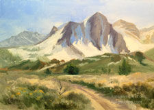 Mt Emerson Bishop Buttermilk Country oil painting