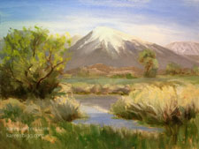 Mt. Tom Springtime - Bishop, California Owens Valley Sierra landscape oil painting