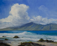 Napili Beach Maui ocean seascape beach painting