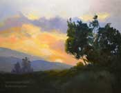 Mt. San Jacinto Palm Springs Sunset art oil painting