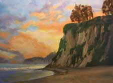 Paradise Cove Sunset, Malibu Beach 18 x 24 inches
