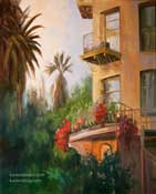 Pasadena Castle Green Balcony 16 x 20 inches