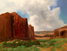 Pillars of Monument Valley Utah southwest oil painting