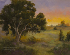 Remembering the Light California Central Coast oil painting