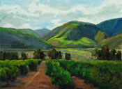 Scent of Citrus - Santa Clara Valley - Ventura County Agricultural Landscape Oil Painting