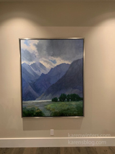 Sierra Light II commissioned oil painting in client home
