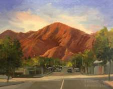 Sierra Madre Sunset with Jones Peak painting art