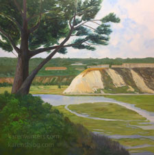 Silvery Streams II Newport Beach oil painting Back Bay
