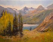 South Lake Bishop art landscape oil painting Sierras