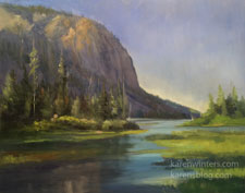 Stone and Stillness Twin Lakes, Mammoth Eastern Sierra oil painting landscape art