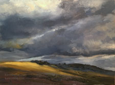Stormy Slope Lamar Valley Yellowstone oil painting