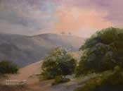 Sunrise Two Tree Hill Ventural oil painting