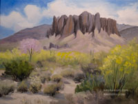 Superstition Mountains oil painting