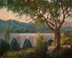 Colorado Street Bridge Pasadena Arroyo Seco Plein Air Oil Painting 11 x 14 inches