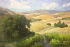 To Walk Through Hills of Gold California Rolling Golden Hills oil painting