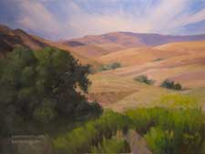 To Walk Through Golden Hills - California Landscape Central Coast Oil Painting