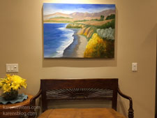 Cambria Colors oil painting in client home