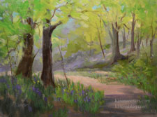 Trail into Springtime California landscape impressionist oil painting