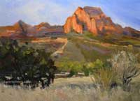 Sedona oil painting - trail to Bear Mountain