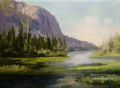 Twin Lakes Mammoth oil painting