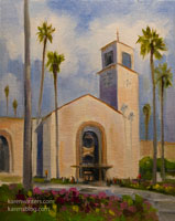Union Station oil painting Los Angeles