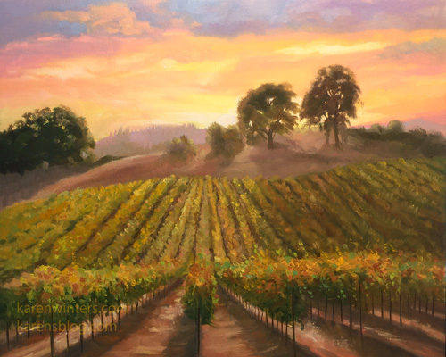 Vineyard Harvest Wine Country California