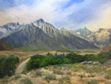 Whitney Bound Lone Pine Whitney Portal Eastern Sierra painting