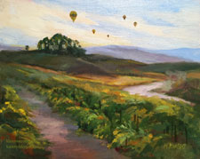 Vineyard Dawn Balloon Flight, Temecula