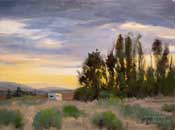 Mojave Sunset Oil Painting