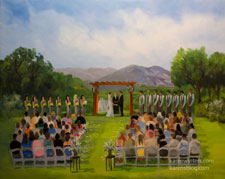 Aliso Viejo Country Club Live Event Wedding Painting
