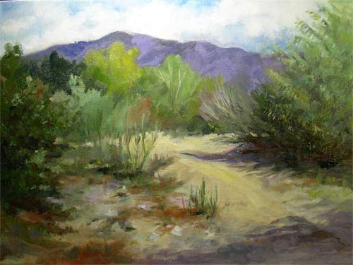 Hahamongna Arroyo Seco oil painting