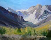 Autumn at McGee Canyon oil painting Sierra art