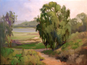 Batiquitos Lagoon Plein air painting